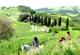 horseback riding trip in Italy