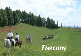 horseback riding trip in Tuscany