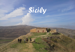 horseback riding trip in Sicily
