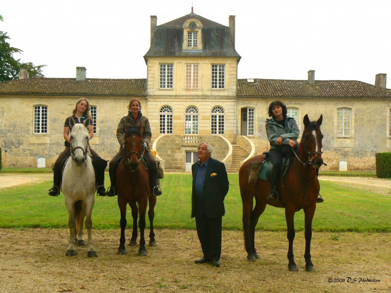 Horse riding trail ride South of France